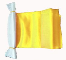 PLAIN YELLOW BUNTING - 9 METRES 30 FLAGS